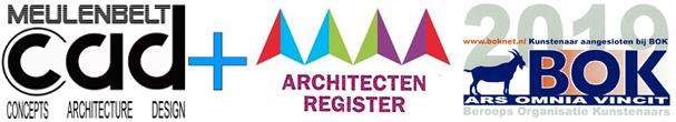 drie logo's