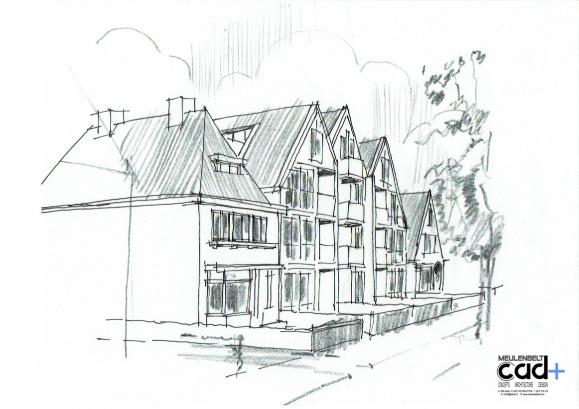 schets appartementen